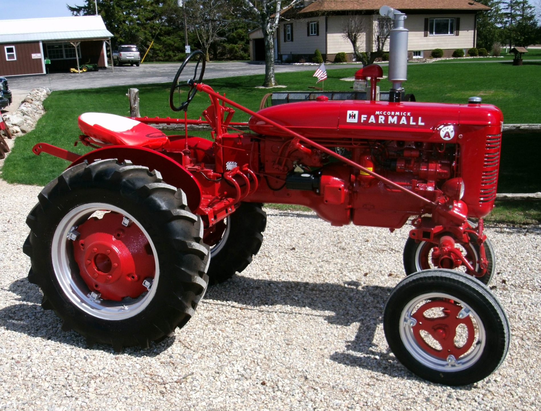 Farmall Super A : Treml repair and implement restoration page